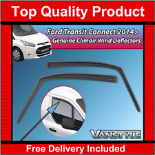 FORD TRANSIT CONNECT 14+ GENUINE CLIMAIR FRONT WIND DEFLECTORS TOP QUALITY TINT