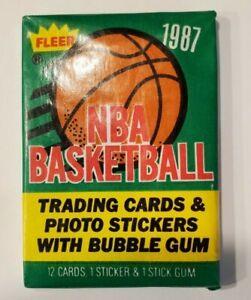 1987 Fleer Basketball Sealed Wax Pack. Michael Jordan 2nd year IN PACK