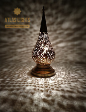 Moroccan Table Lamp Brass Gold Silver Color
