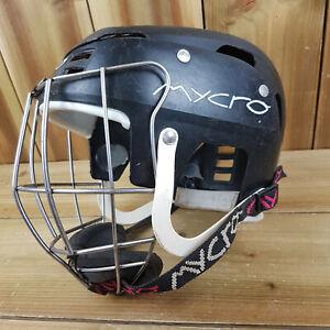 Mycro Hurling Helmet Camogie Size Medium 53cm Used See Photos GAA Gear Black