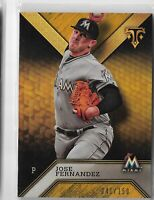 2016 Topps triple threads baseball Amber parallel Jose Fernandez 041/150