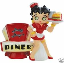 Betty Boop Set Figurine Salt & Pepper Magnetic Shakers Diner Waitress #20198 New