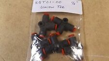 """qty (5) new SMC KQT01-00 one touch UNION TEE push / pull air fitting 1/8"""" tube"""