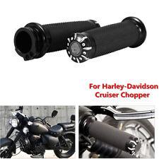 "Black Motorcycle Styling 1"" Anti-slip Handle Bar Hand Grips For Harley-Davidson"