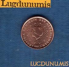 Paesi bassi 2001 1 centesimo d'Euro PARTE SUPERIORE SPL Moneta nuovo rullo -