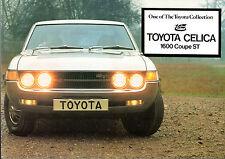 TOYOTA CELICA 1600 ST Coupe 1973-74 marché du ROYAUME-UNI RABATTABLE sales brochure