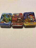 NEW Lot Of 3 Toy Story, Cars & Jake Mini Puzzle Tins