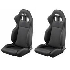 2 X R100 SPARCO reclinables Asientos deportivos de cubo de coche de carreras (par) - Negro