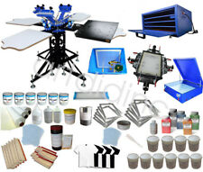 3 Color 4 Station Screen Printing Equipment Kit with All Print Equipment Press