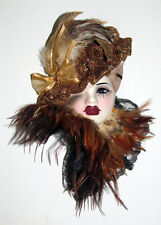 Unique Creations Lady Face Mask Wall Hanging Decor