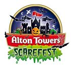 3x Alton Towers Tickets 28th October SCAREFEST - includes Trick O Treat Town