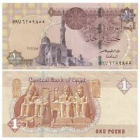 Egypt Banknotes Paper Money Collect 1 Pound EGP Real Currency UNC 2017