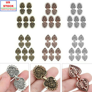 USA 5 Pairs Copper Cape Cloak Clasp Fasteners_Sew On Hooks + Eyes Cardigan Clips