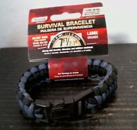 Secure Line NPCB550BKGL Survival Bracelet, Large Black/Blue, FREE SHIP