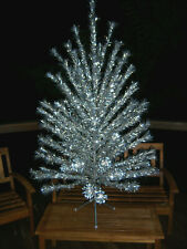Vtg Awesome Collector'S 6 Ft.Evergleam Pom Silver Stainless Aluminum Xmas Tree