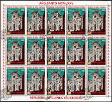 "Equatorial Guinea 1974, 3e50 ""Ano Santo"" Pope Paul VI Cto Used Full Sheet #V5653"