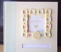 New Seasons Recordable Baby's First Photo Album Memory Book Hearts Yellow Green