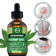 Hemp Oil Drops For Pain Relief, Stress , Anxiety, Sleep - 250,000 mg, Premium
