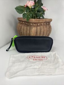 Coach Eyeglass Case Leatherware 1943 Soft Black Leather Zip B17