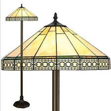STUNNING TIFFANY STYLE STAINED GLASS HANDCRAFTED FLOOR LAMP