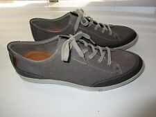 """ECCO Side Perforated Suede Leather Men's Comfort Sneaker Gray 12.5E (11.5"""" feet)"""