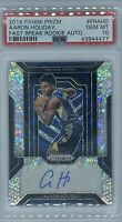 Rookie 2018-19 Aaron Holiday Panini Fastbreak Prizm Auto RC! PSA 10