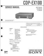 Sony Original Service Manual per CDP-ex 100