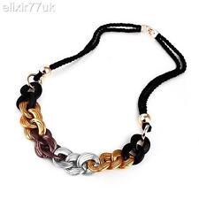 NUOVA argento oro stile celebrità trama grossa cordolo catena dichiarazione Collana HOT REGALO UK