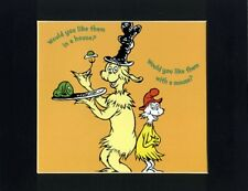 DR. SEUSS~GREEN EGGS & HAM~8 X 10 Mat Print~IN A HOUSE WITH A MOUSE~NEW