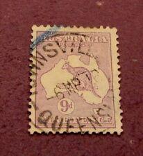 Australia Scott# 41 Kangaroo and Map 1915 C304