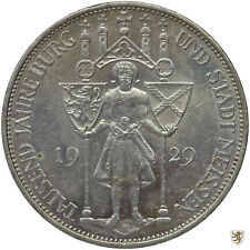 WEIMAR, 3 Mark, 1929 E, Meissen, Jg. 338, vorzüglich