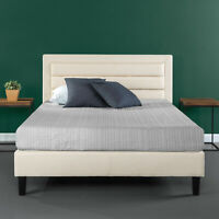 Zinus Mckenzie Upholstered Detailed Platform Bed