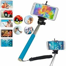 Blue Monopod Selfie Stick Telescopic For HTC 10 One A9 One M9 One M8s M8 Desire