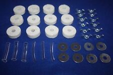 WHITE WOOL CYMBAL FELTS + Sleeves + Wingnuts + Washers For Drum Kit - 38 PIECES