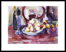Paul Cezanne Apples Bottle and Chair Back Poster Kunstdruck und Rahmen 28x36cm