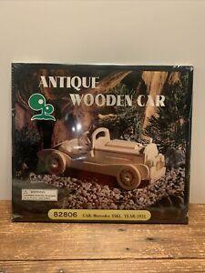 Sealed Antique Wooden Car Kit 82806 Pre-Cut 1931Mercedes SSKL DIY Hobby-1931