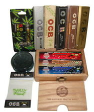 Raw Deluxe OCB Gift Box Kit Smoking Tips Roach Flavoured Paper Grinder Pipe Cone