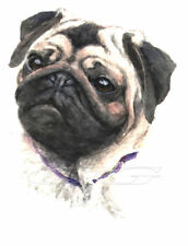 PUG.  3 Blank Dog greeting cards by Christine Groves