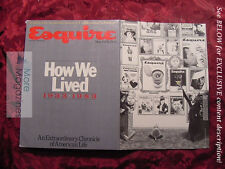 ESQUIRE June 1983 HOW WE LIVED -- 50 YEARS of ESQUIRE +