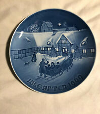 1969 B & G Christmas Plate Bing & Grondhal Denmark Blue #5