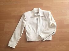 Vintage Todd Oldham 90's Off White Moto Jacket Size 2 Side Zippers Casual
