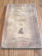 Athalie A Tragedy By J. Racine Students Series of Classic French Plays 1892