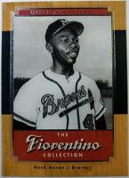 2001 01 Upper Deck Legends The Fiorentino Collection Hank Aaron #F9, Braves