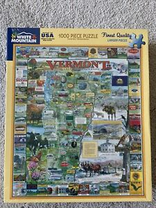 New White Mountain Puzzles 1000 Larger Pieces State Of Vermont