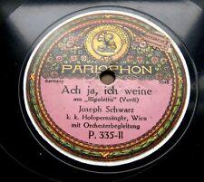 A156/Joseph noir-Ah oui, je pleure-Rigoletto-Verdi-Prologue PAGLIACCI-gomme laque
