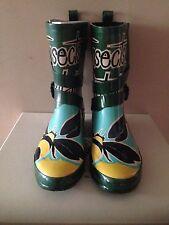 Burberry Ladies Smokey Green Rain Boots RRP £195 Size 39/6 BNIB