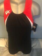 GK MENS Gymnastics Leotard  -  AXS Black, red & white