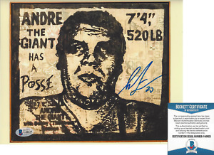 SHEPARD FAIREY SIGNED ANDRE THE GIANT HAS A POSSE 8X10 PHOTO PRINT BECKETT COA