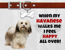 "Havanese When My Dog Walks Me Fridge Magnet 4.5"" x 3.5"""