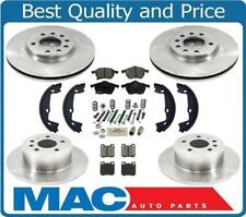 for 00-05 Saturn L100 200 300 LW  Frt & Rr Rotors & Pads W/ Parking Brake Shoes